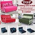 100% de algodón sofá cama alta resiliencia esponja de la espuma sofá plegable sofá set multifunción de metal salón sofá cama 1.5 * 1.9, 6 color