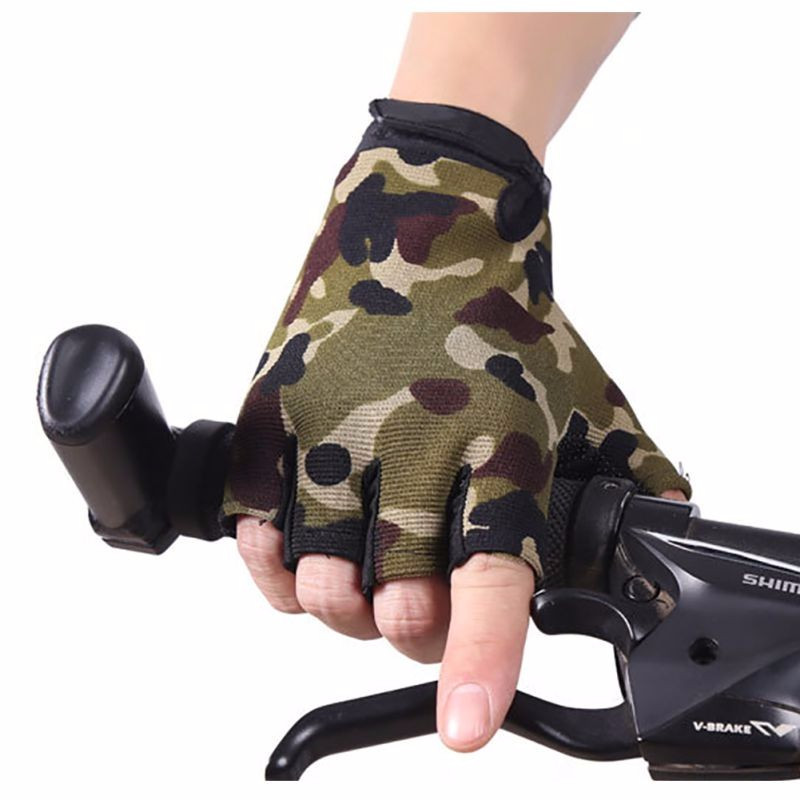 Half-Finger Wrap Wrist Cycling Sports Gloves Palm Brace Supports Racing Gloves for Men
