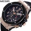 Megir top marca de luxo relógio de pulso dos homens mens chronograph luminous relógios militar do exército relógio do esporte homens macho presente de quartzo relógios