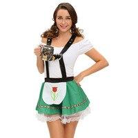 Deguisement adultesハロウィン衣装セクシーなスラッシュネックレディビールメイドドイツオクトーバーフェスト衣装disfracesデパララスムヘーレス