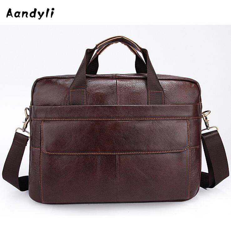 Leather Handbags Men Crossbody Bags Men s Shoulder Bag Business Laptop bag