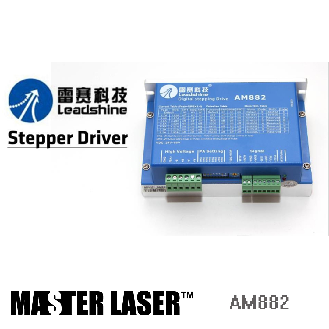 Leadshine AM882 - 2 Phase Digital Stepper Drive With Stall Detection Max 80 VDC / 8.2A Laser Stepping Motor DRIVERLeadshine AM882 - 2 Phase Digital Stepper Drive With Stall Detection Max 80 VDC / 8.2A Laser Stepping Motor DRIVER