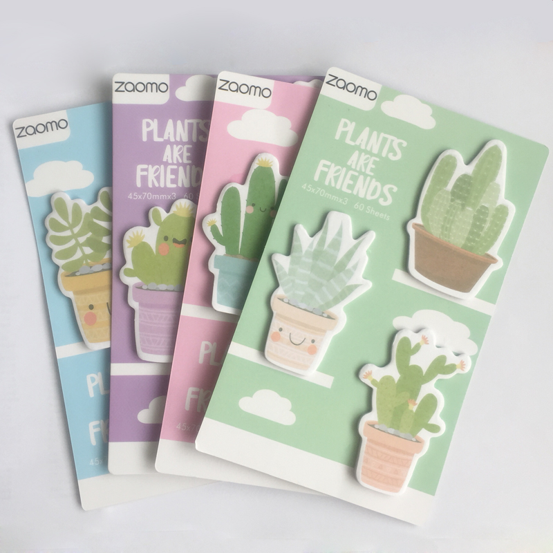60 Sheets/Pack Cactus Love Memo Pad Sticky Notes Notepads Student Paper Stationery School Office Supply 2018 pet transparent sticky notes and memo pad self adhesiv memo pad colored post sticker papelaria office school supplies