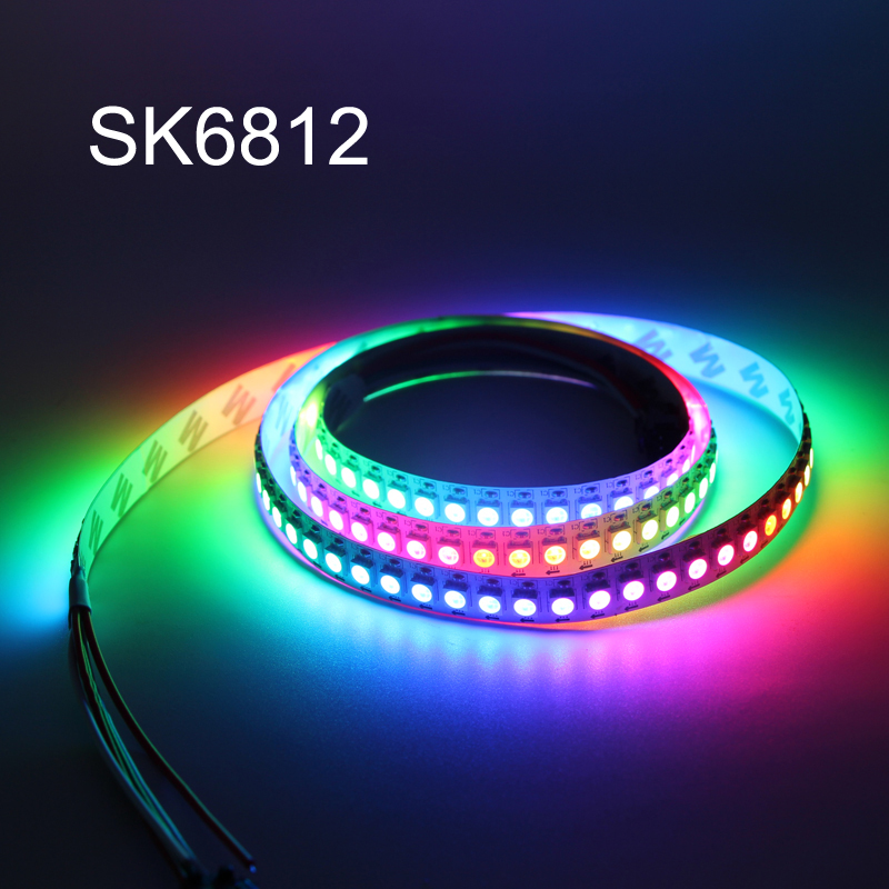 Christmas Led Strip Lights.Us 2 09 30 Off Sk6812 Rgbw Rgb Led Strip Lights 5050 Similar Ws2812b 4in1 1m 4m 5m 30 60 144 Leds M Individual Addressable Christmas Light 5v In