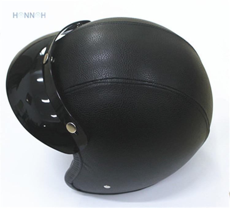 motorcycle helmet support ABS Leather Retro Motorcycle men women bike sports cafe racer Helmet Motocross Motos Helmets Capacete