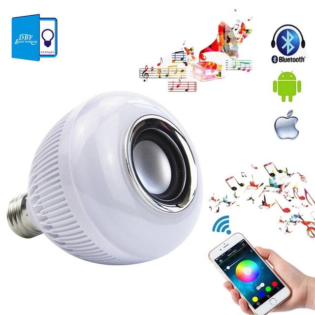 [DBF] Bluetooth Wireless 12 W LED Lámpara de Luz E27 RGBW Bombilla Altavoz Altavoces de Audio de Reproducción de Música Con 24 Teclas de Control remoto