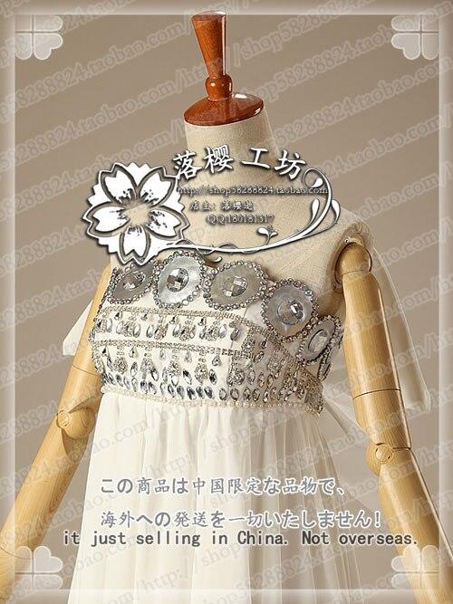 Sailor Moon Princess Tsukino Usagi White Luxury Chiffon Party Dress Halloween Cosplay Costume Uniform Outfit Custom made - 5