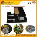 Upgarded A3 T Shirt printing  Flatbed printer , DHL/Fedex free shipping