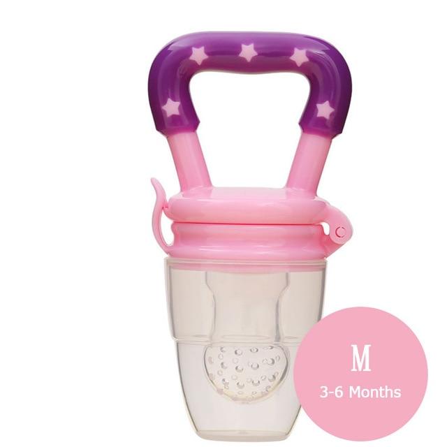1 шт. свежий Ниблер для кормления ребенка соска для кормления дети фрукты Фидер соски Кормление безопасные детские принадлежности сосок соска бутылки - Цвет: Pink M