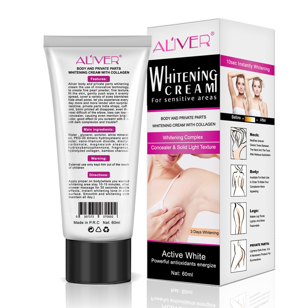 Bath & Shower Sincere Hot Sale 60ml Armpit Whitening Repair Creams Between Private Parts Armpit Elbow Knee Legs Armpit Whitener Intimate Convenience Goods