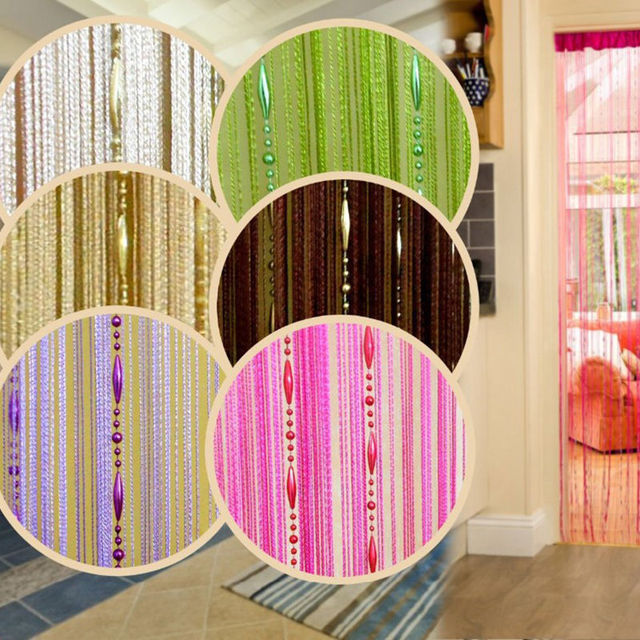 100*200cm Chain Tassel Window Curtain Beaded door screen String Room ...