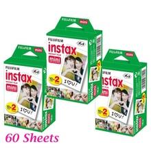 60 folha de filme para polaroid instantâneas fujifilm fuji instax mini 8 mini 7 s 25 50 s 90 câmera fuji instax borda branca foto filme de papel