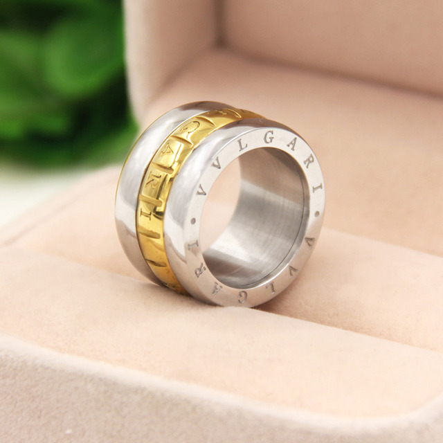 fine jewelry wholesale copper rings biker wedding rings for women with letters charms mens jewelry golden circle inlaid - Biker Wedding Rings
