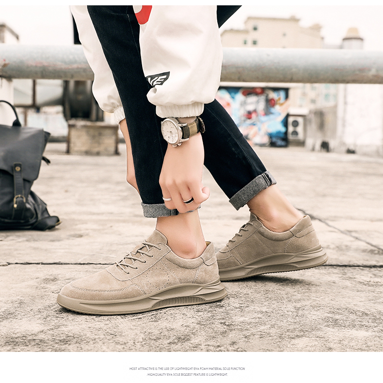 Genuine Leather unisex Suede sneakers 5