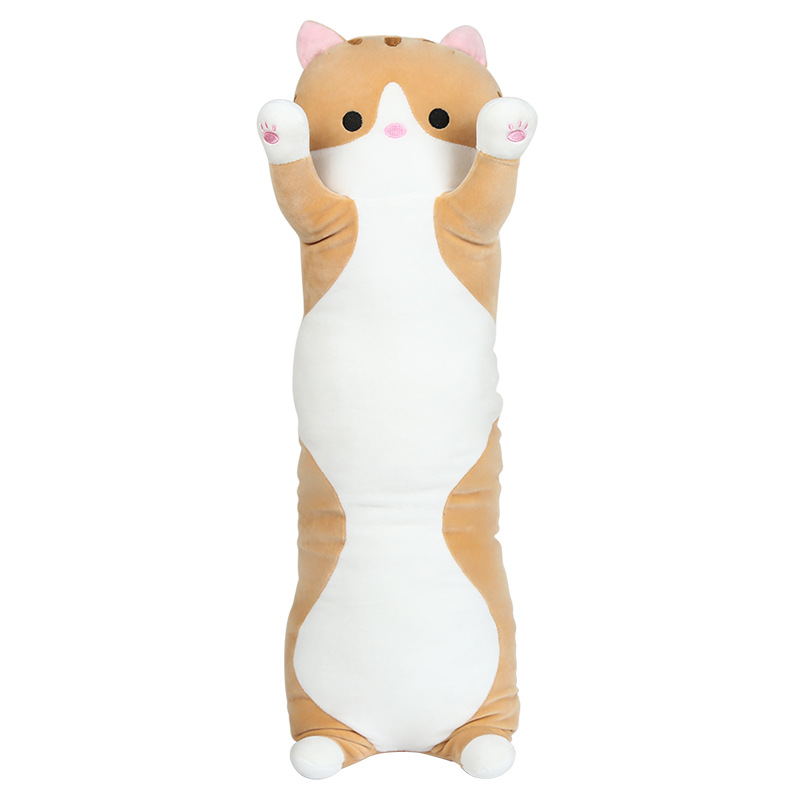 70CM orange soft cute Plush long Cat Doll Pillow Cushion Stuffed Bolster Gift little book of earrings