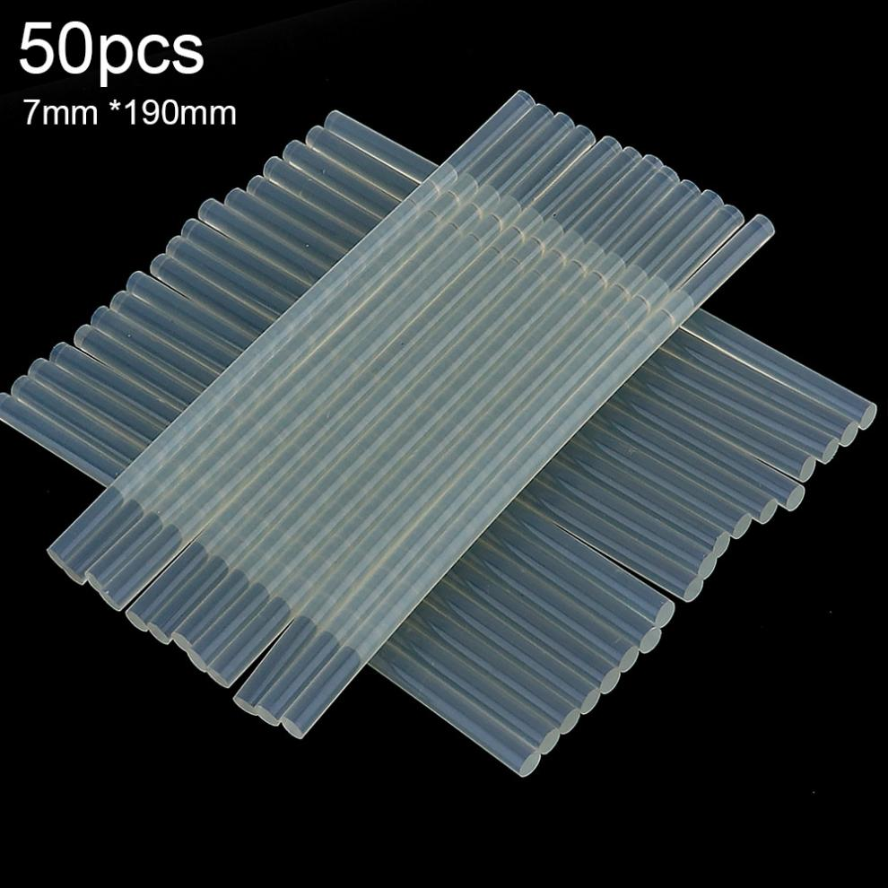 50pcs/lot Transparent Hot-melt Gun Glue Sticks Gun Adhesive DIY Tools For Hot-melt Glue Gun Repair Alloy Accessories