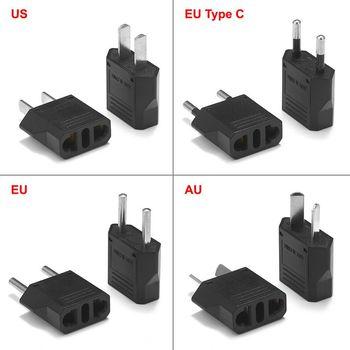 2pcs EU Plug Adapter AU Australian American US To EU Euro Travel Adapter Type C Electric Plug Converter Power Sockets Outlet subwoofer