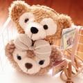 Candice guo! linda pareja de dibujos animados oso duffy shelliemay oso crossbody del bolso de la felpa monedero juguete de regalo de cumpleaños del amante 1 unid