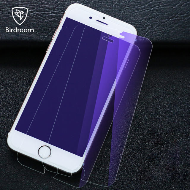 cheap for discount 2da13 60ec3 US $4.43 |Birdroom HD Anti Blue Light Tempered Glass Screen Protector For  iPhone X 5 5S 5C 6 6S Plus 8 7 7Plus SE Protective Film-in Phone Screen ...