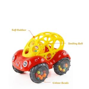 Image 5 - Mini Baby Car Doll zabawka do kołyski Grip Hand Catch Ball dla noworodka zabawka samochód inercyjne slajdów z kolorowa piłka Anti fall zabawka dla dzieci