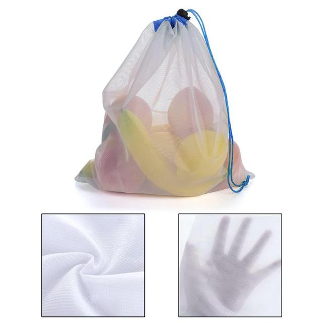 Pokich 12pcs Reusing Eco-friendly Reusable Grocery Produce Bags Stop Wasting Plastic Mesh Bags For Storage Fruit Vegetable 2