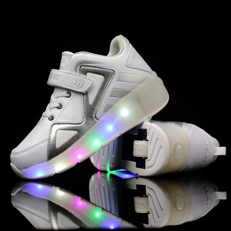 New Childrens Sport Roller Childrens Led Light Single-wheeled Walking Shoes High-cut Boys and Girls Childrens Skates Shoes