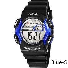 OTS Kids Sport Brand Children Outdoors Waterproof Silicone Fashion Children Girls Boy Digital Led Quartz Alarm Date Wristwatch