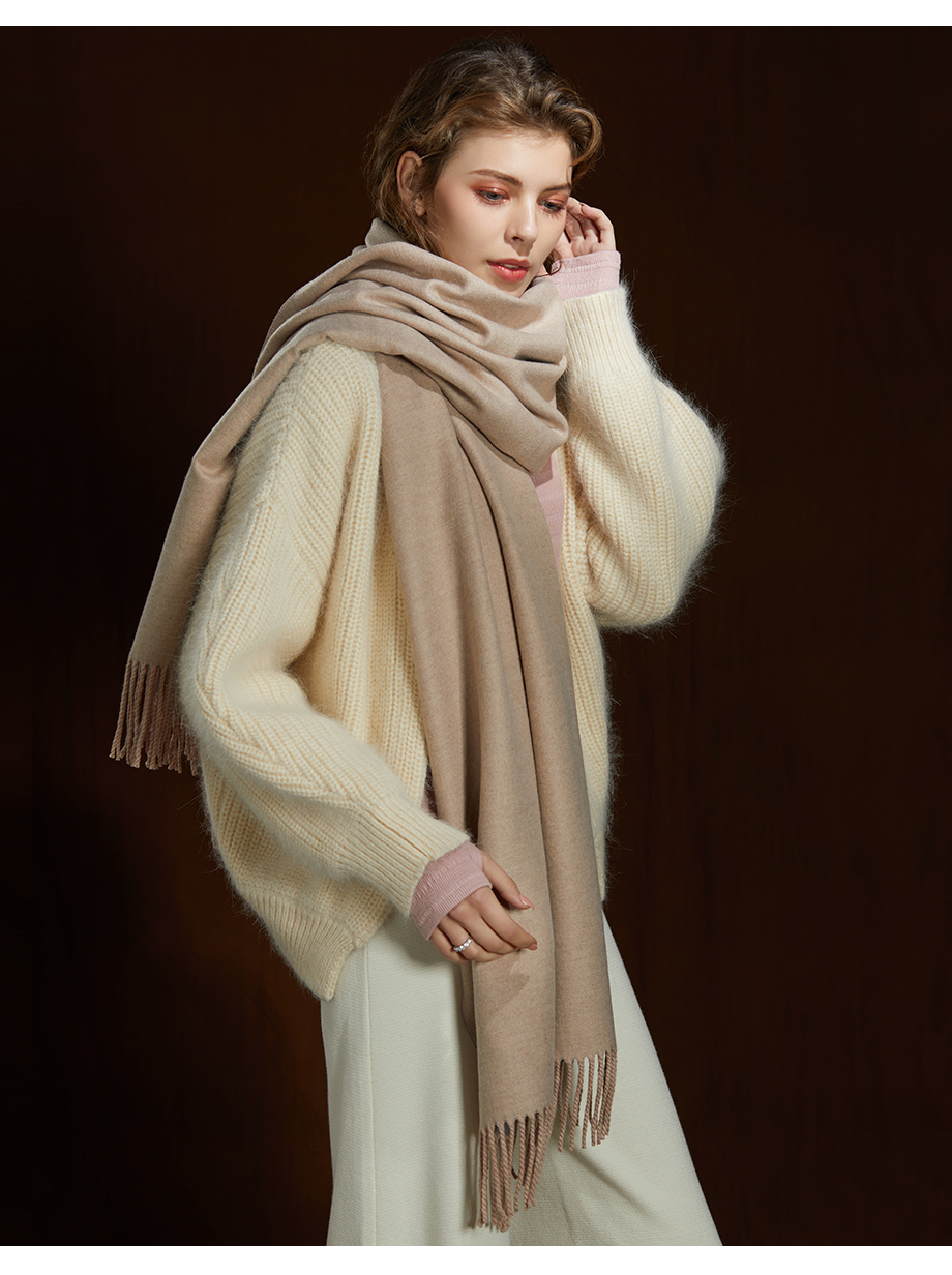 Winter Large Tassel Scarf 180cm65cm 23 Colors Wool Knitted Scarves 2019 Autumn 100% Cashmere Long Solid Scarf Women Warm Shawl (11)