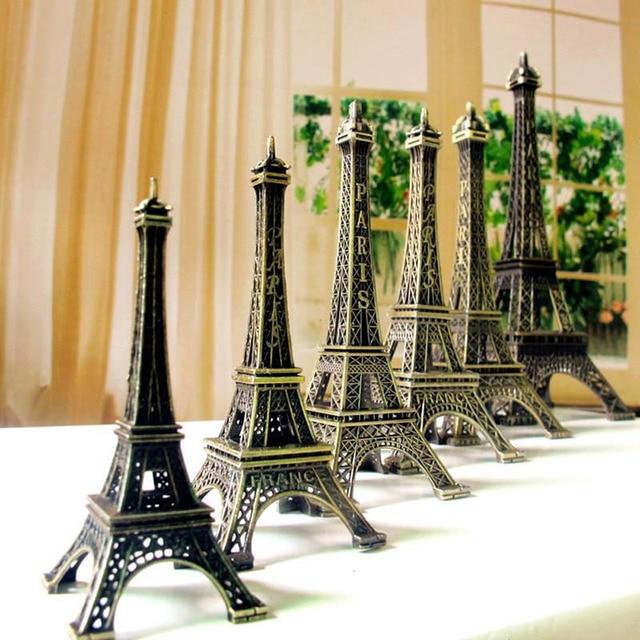 Vintage Bronze Paris Eiffel Tower Tone Alloy Figurine Statue For Home Decor  Office Desktop Decorative Statues