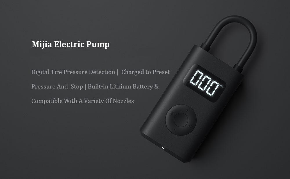 Original Xiaomi Mini Inflatable Pump Air Compressor Tire Portable Electric Pump For Car Bike Football Motorcycle Tire Air Pumps (2)