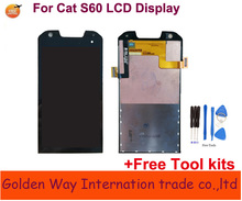 Angcoucoux For Caterpillar Cat S60 Smartphone LCD Display + Touch Screen Glass Digitizer Assembly Replacement Parts+ Free tools