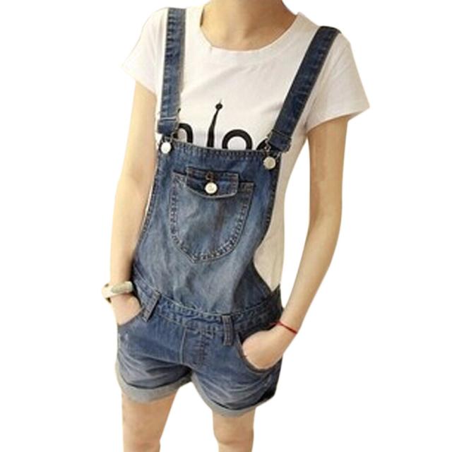 Brand new 2015 versão coreana High end Jeans Denim calças soltas macacão para as mulheres ' s mulheres