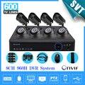Hmdi 1080 p nvr de 8 canais 960 h segurança 3 g vídeo vigilância cctv câmera com IR interior dvr kit 8ch SK-063