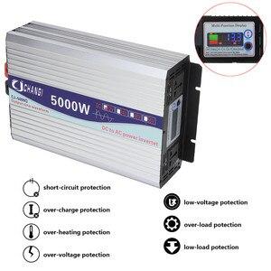 Image 3 - Inverter 12V 220V 3000W/4000W/5000W/6000W Intelligent Voltage transformer Pure Sine Wave Solar Power Inverter 12V/24V To 220V