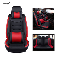 Wenbinge Cowhide leather car seat cover For Mercedes Benz w203 w211 w124 w212 w204 w202 cla w245 covers for vehicle seat styling