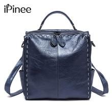 Ipinee Пояса из натуральной кожи рюкзак Для женщин дизайнер Сумки высокое качество Сумки на плечо новый Школьные сумки для подростков Обувь для девочек SAC DOS
