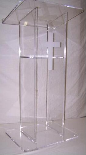 Wholesale Clear Fixture Displays Acrylic Wedding Podium Stand, Modern Acrylic Lectern Podium Pulpit For Sale