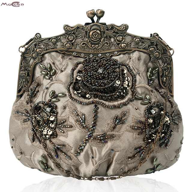 95d47448d Moccen Luxo Festa de Casamento Embreagens Noite Sacos de Embreagem Das Mulheres  Bolsa Do Vintage da