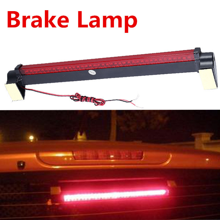 Free Shipping New Red 40 LED Vehicle Car Auto Fog Stop Tail Rear Brake Warning Light Lamp Led 12V Brake Lamp universal f1 style drl red 12led rear tail stop fog brake light lamp car motor external lights free shipping