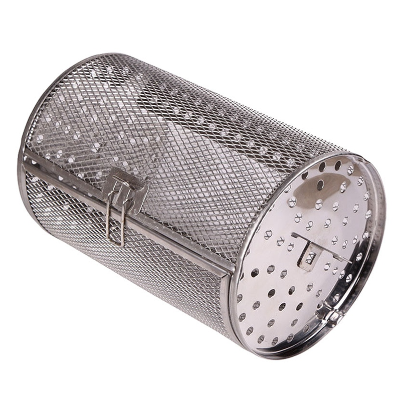 12 x 18Cm Stainless Steel Oven Rotating Roasting Cage Roasted Coffee Beans Nuts Walnuts Roasted Cage(China)