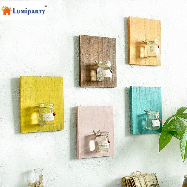 lumiparty creative home wall decoration wooden wall hanging plant rh aliexpress com wooden wall hanging temple wooden wall hanging temple