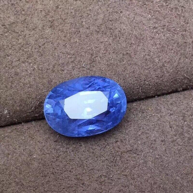 GIL certifié 7.08ct UnHeat bleuet saphir naturel bleu pierres précieuses en vrac pierres précieuses en vrac