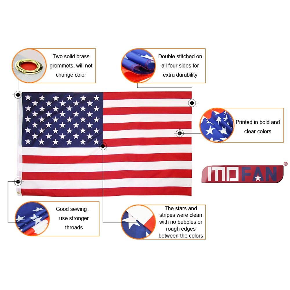 MOFAN US Flag American National Flag- Canvas Header and Double - Heminredning - Foto 5