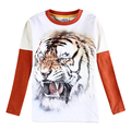 kids 3d t shirts animal print baby clothes long sleeve new design nova kids wear cotton children t shirts fashion boys t shirts