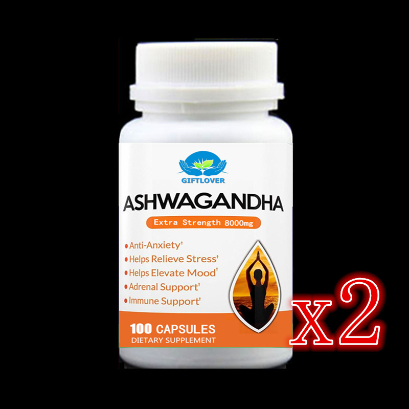 2 bottle 200caps,Ashwagandha Root Herbal Supplement,Withania Somnifera Extract, Relieving Stress, Anxiety,Insomnia,India Ginseng все цены