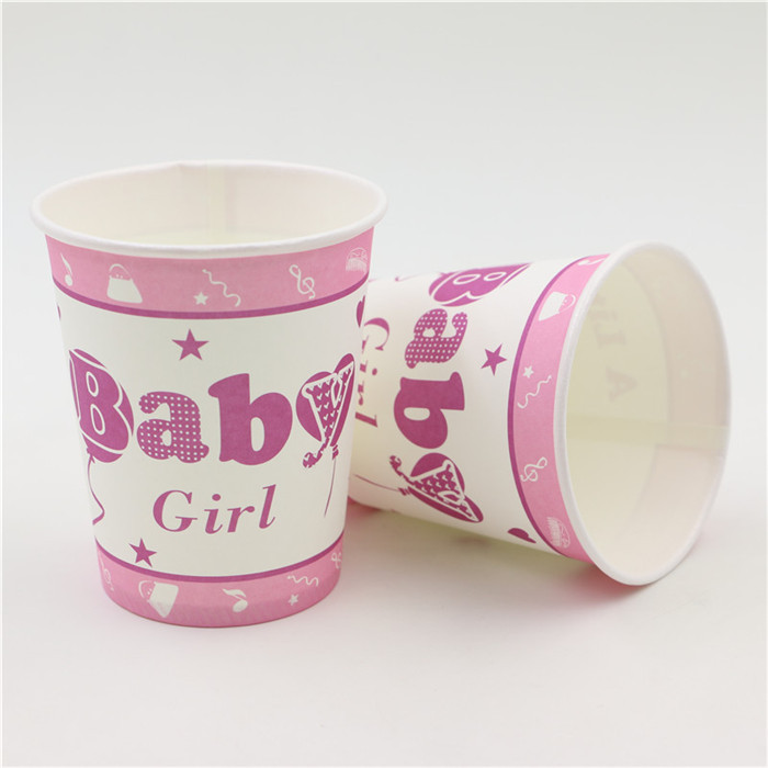10pcs Baby birthday party theme printing paper cup tableware for kids children birthday Party drinking cups in Disposable Party Tableware from Home Garden