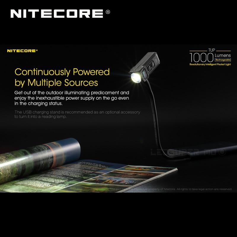 Black New Nitecore TUP USB Recharge Cree XP-L HD V6 LED 1000 Lumens Flashlight