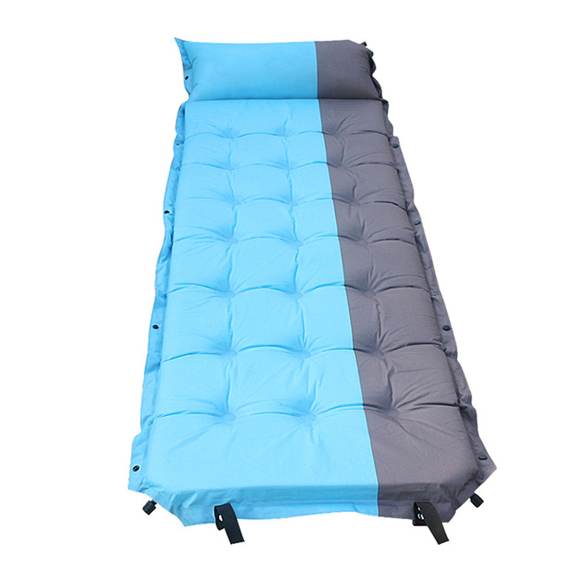 192x65x5cm Outdoor Camping Mat Inflatable Air Sleeping Bed Automatic Mattress Beach Foldable Blue