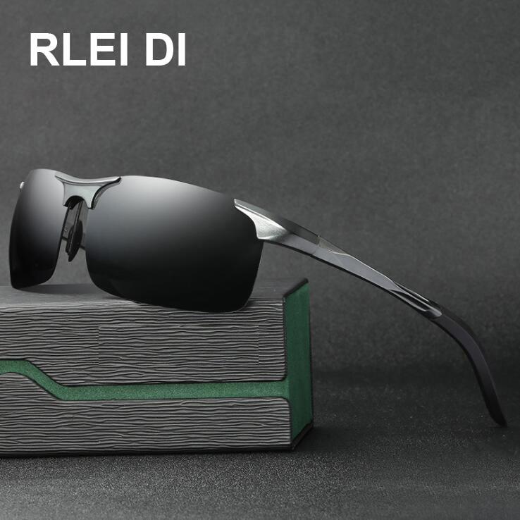 2018 Polarized Mens Sunglasses Aluminum Magnesium Frame Car Driving Sunglasses Men Sports for Fishing Golf 8177