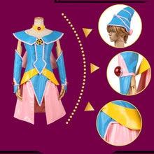 Yu Gi Oh Black Magic Woman Black Dark Magician Girl Hallowmas Uniform Suit Dress Cosplay Anime